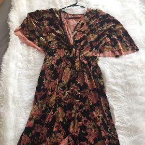 Mod Cloth kimono sleeve velvet dress.